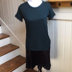 Lanvin raw edge knee length dress